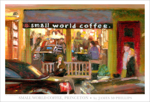 "Signed ""Small World Coffee"" Poster by Jay McPhillips"
