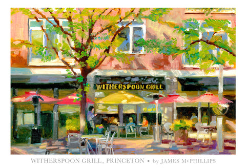 "Signed ""Witherspoon Grill"" Poster by James McPhillips"