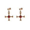 St Cuthberts cross Holy island  - Earrings