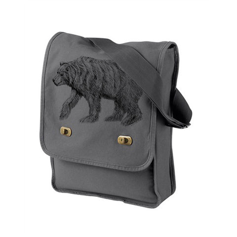 California Bear Grey Messenger Bag
