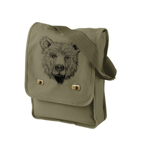 Green Teddy Bear Messenger Bag