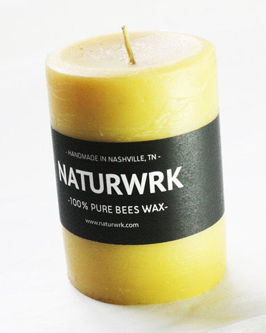 Beeswax Pillar candle 4 inch