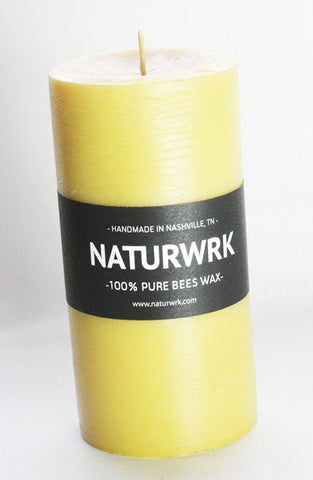 Beeswax Pillar candle 6 inch