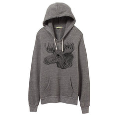 Mens Eco-Heather Moose Pullover Hoodie