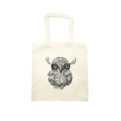 Cute Owl Face Tote Bag