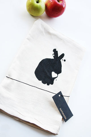 Bunny Rabbit Tea Towel