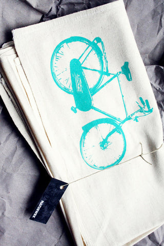Blue Bike Tea Towel