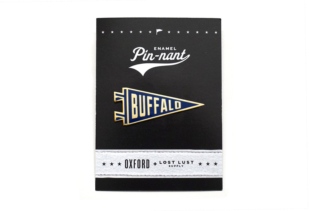 Buffalo Pennant Pin - Lost Lust Supply x Oxford Pennant