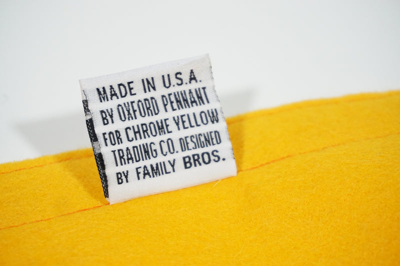 Lost & Found & Lost Again Camp Flag • Chrome Yellow x Office of Brothers x Oxford Pennant Original