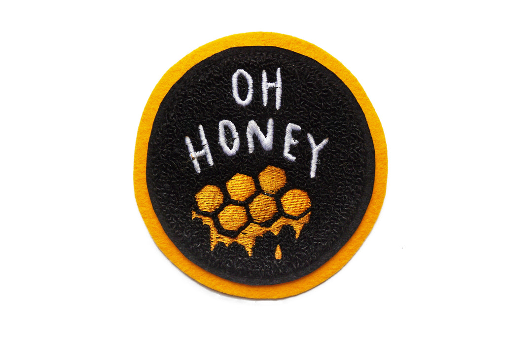 Oxford Pennant - Oh Honey Chenille Patch