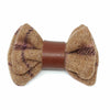 Regent Tan Wool & Leather Bow Tie