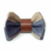 Regent Blue Wool & Leather Bow Tie
