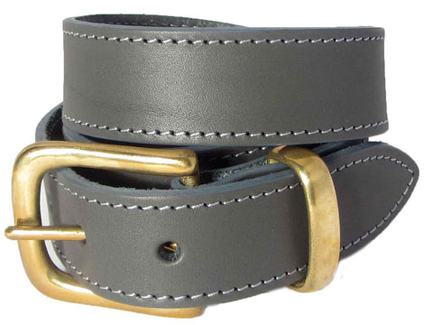 Grey Belt with Gold Buckle