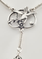 Pocket Confirmation Rosary: Silver with Connemara Marble