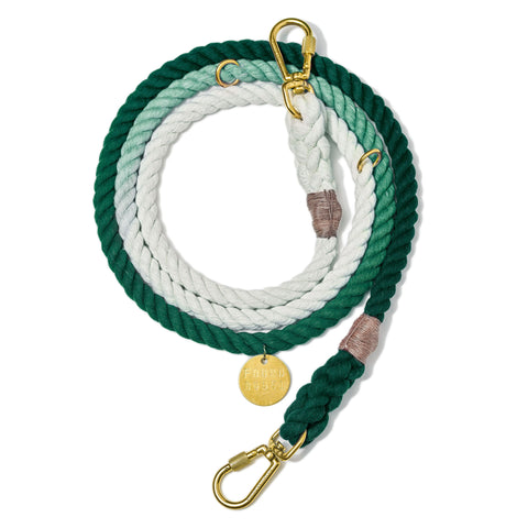 Found My Animal Cotton Rope leash Emerald Ombre for Dogs