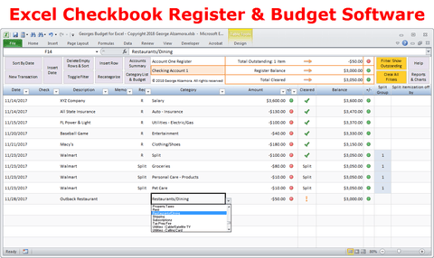 Georges Budget for Excel v10.0