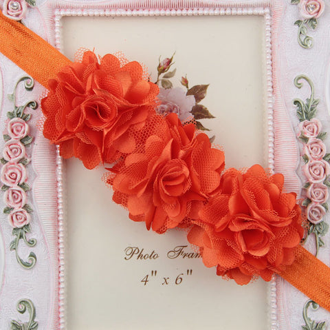Blossom sequence baby headband - Orange
