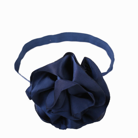 Pikaboo Big Shiny Rose headband - Midnight Blue