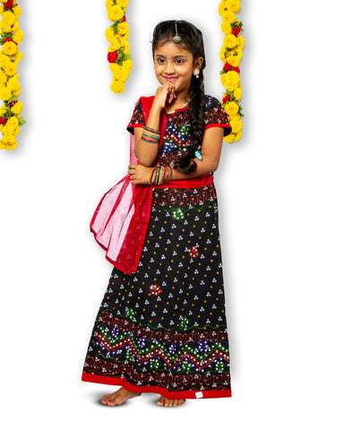 Black Maroon Girls Chaniya Choli