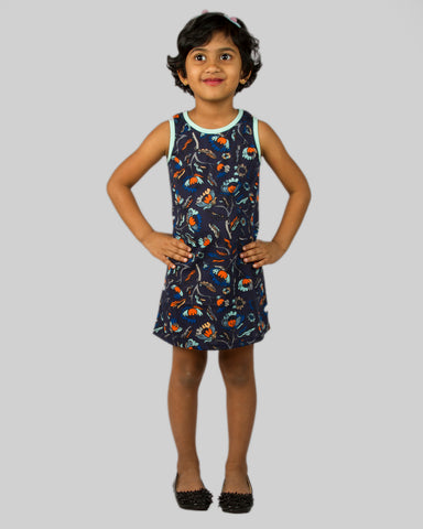 Navy floral Aline dress