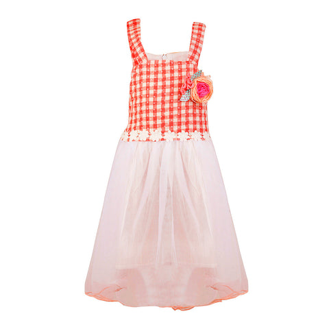 Strappy Gingham Frock - Red