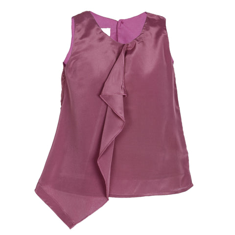 Light Purple solid sleeveless casual top