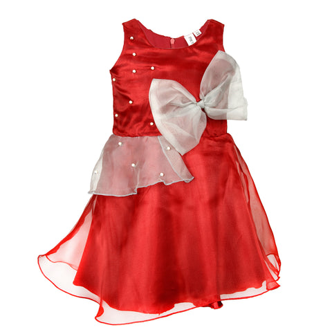 Organza party dress - Maroon