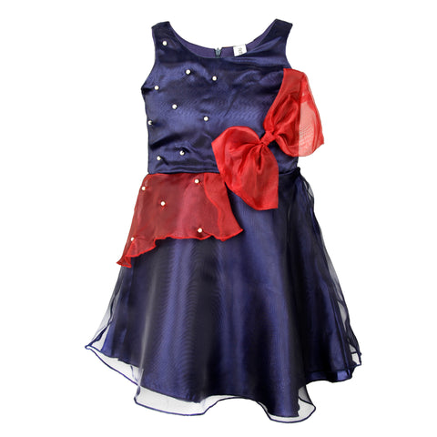 Organza party dress - Navy