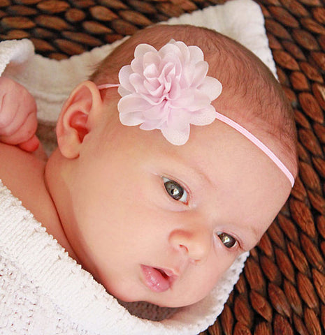 Small Flower headband - Baby Pink