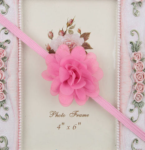 Small Flower headband - Pink