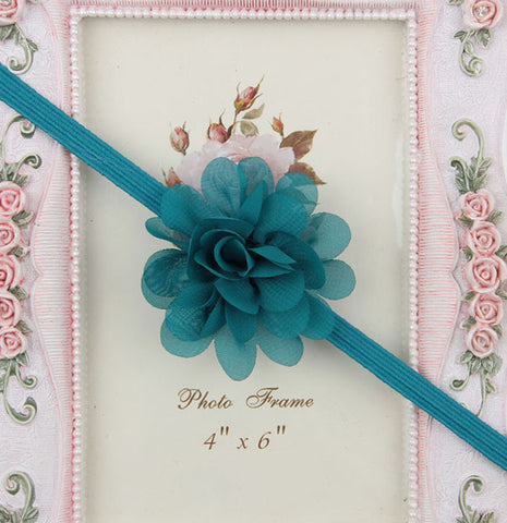 Small Flower headband - Teal