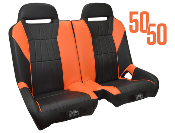 PRP Seats Polaris RZR 50/50 Front Bench (Custom Head Rest Logo Available)