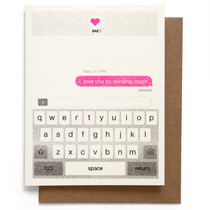 Smarty Pants Paper - Ducking note card