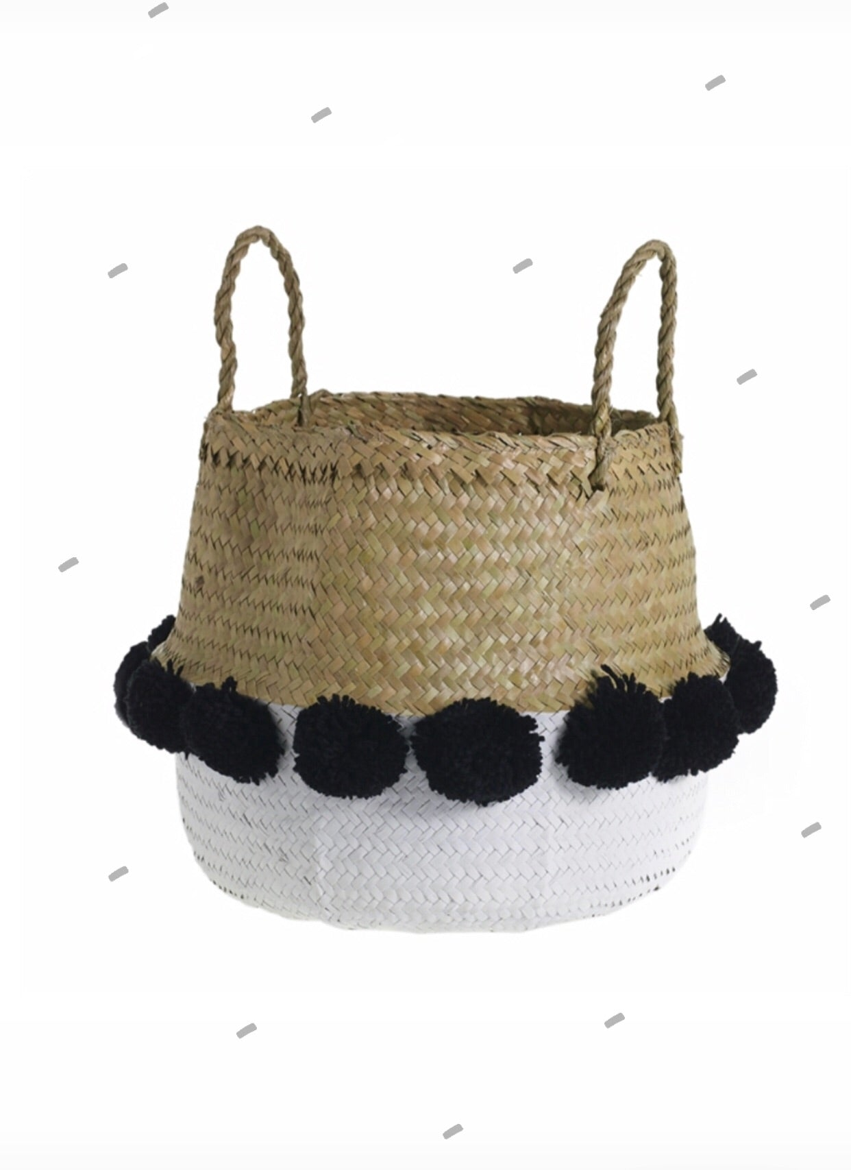Sea Grass Circus Basket Planter