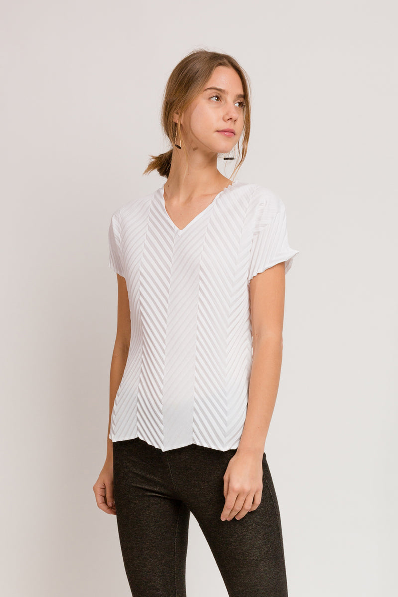 Chevron T-Shirt in White
