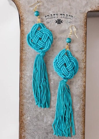 """CATTYWAMPUS"" EARRINGS - TURQUOISE - Coyote Blu"