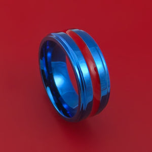 Anodized Titanium Ring with Cerakote Inlay Custom Made Band