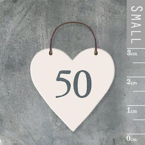 50 Fifty Mini Keepsake Heart