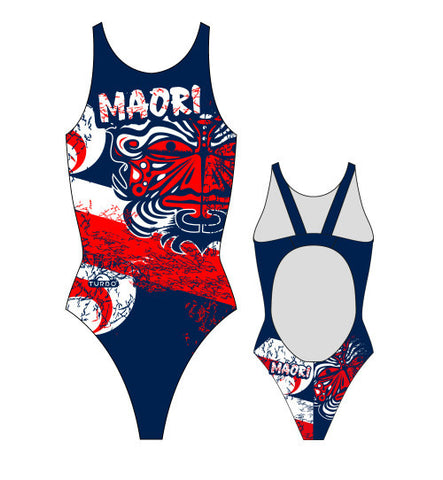 Waterpoloshop - TURBO Maori Flag - 898111-0807 - Womens Swimsuit / Swimwear / Costume - Swimming