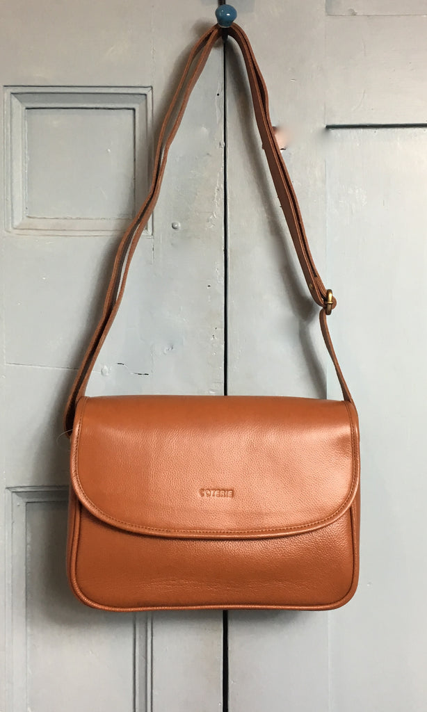 COTERIE Agatha Bag Dark Tan Leather
