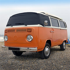 VW Bus Camper Van (T2 Bay Window) Screen Wrap Frost Cover - BLACK - 1968 to 1979 (116B)