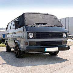 VW Vanagon Bus Camper Post-Type 2 T3 / T25 Screen Wrap Frost Cover - BLACK - 1979 to 1992 (295B)