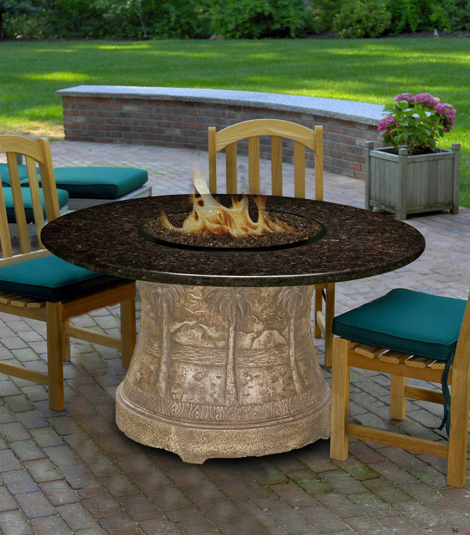 Palm Dining Height Gas Propane Fire Pit Table Fire Pit Plaza