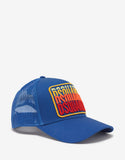 Blue Multi-Logo Trucker Hat