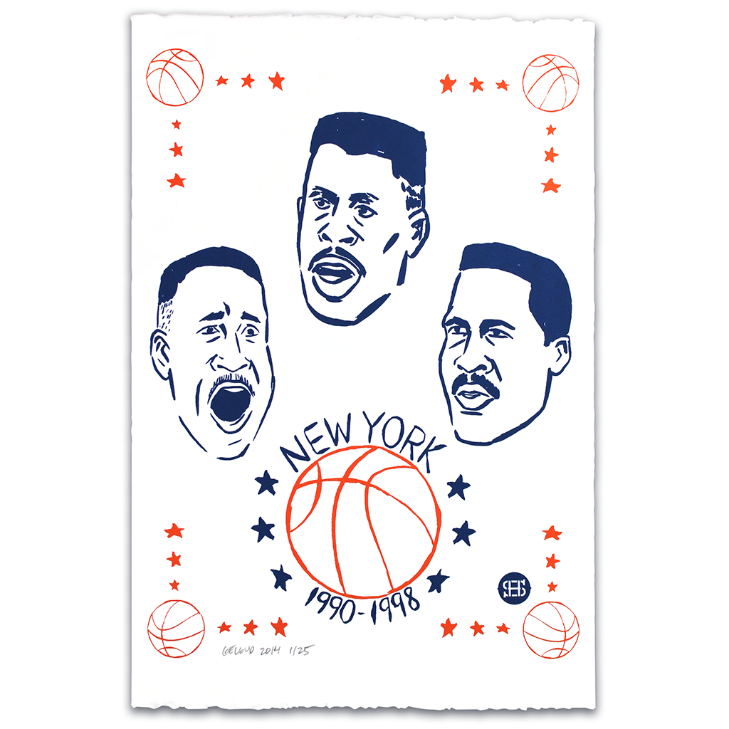 """The New York Three"" limited edition silkscreen print by Nathan Geldud for Spikes High"