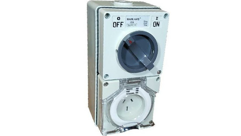COMBINATION SWITCHED SOCKET OUTLET 10A 3 PIN (with back box)