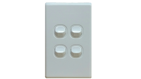 FOUR GANG LIGHT SWITCH