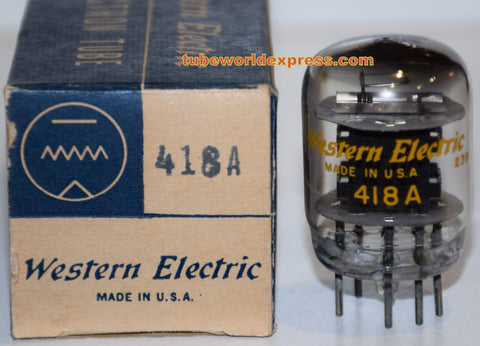(!!!) 418A Western Electric NOS 1952 original box (34ma)