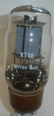 KT66 GEC NOS 1960's rebranded KT66 BRITISH MADE glass slightly tilted (83ma) (BEST VALUE NOS single tube)