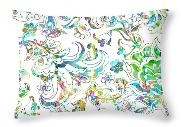 Lace - Wild Emerald - Throw Pillow